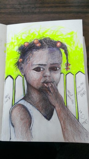 sketch fence blk girl